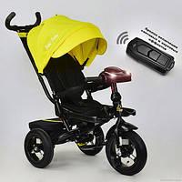 Трёхколёсный велосипед Бест Трайк Best Trike 6088 F - 2010 желтый с фарой и пультом. Поворотное сиденье.