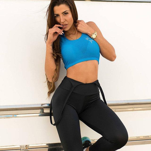 Черные леггинсы для фитнеса женские S, M, L