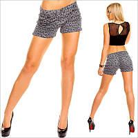 Леопардовые женские шорты