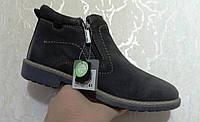 Мужские кожаные ботинки Alessio Nesca (Италия). Осенние ботинки зимние утепленные овечьей шерстью.