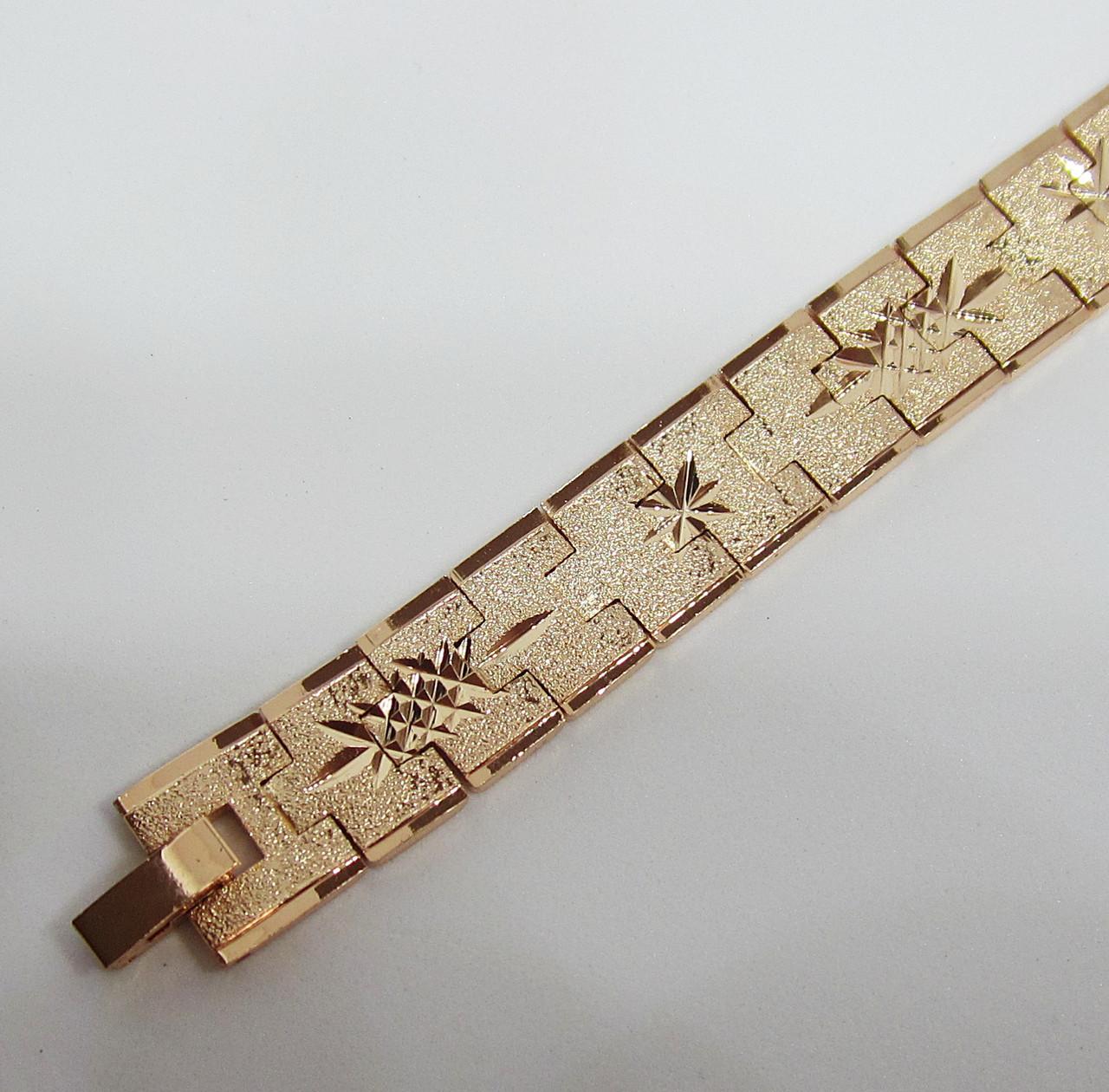 Браслет длина 21 см ширина 11 мм ювелирная бижутерия