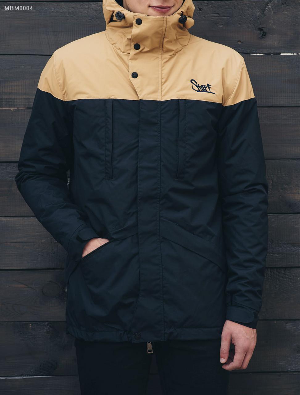 Куртка мужская весна осень Staff Wind beige демисезонная непромокаемая с  капюшоном (весенняя 4b5848af5bce0
