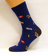 Носки яркие женские с рисунком хлопковые 37-39р
