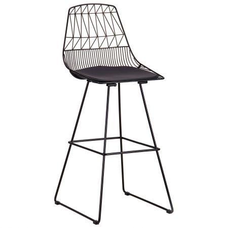 Металлический стул хокер Pitta, черный, TM AMF