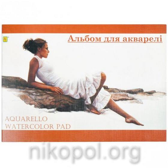 """Альбом для акварели """"Коленкор"""" А4 10 листов"""