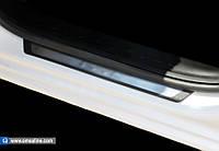 Peugeot 301 (2012-) Дверные пороги 4шт (Flexill - надпись)