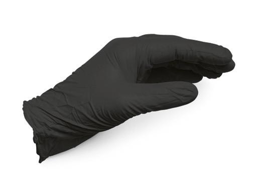 Перчатки одноразовые нитриловые, усиленные черные, упаковка 50 пар WURTH