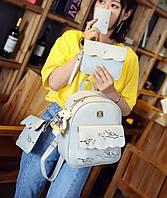 Женский рюкзак на одно отделение с карманами