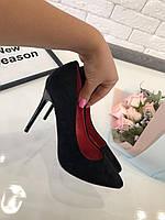 Туфли лодочки черные  код 5984/1, фото 1