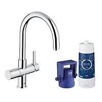 Смеситель для фильтра с системой очистки воды фильтр на 600 л. Grohe Blue Pure 33249001