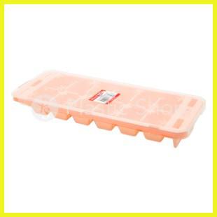 Форма для льда Premium 12 ячеек коралловый