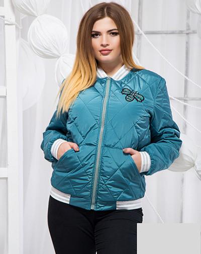 Стеганая короткая куртка большого размера 819200