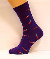 Высокие яркие женские носки с перцами синего цвета