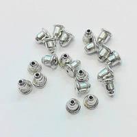 Заглушки для серег железные с силиконовой вставкой (цвет сталь) 10 000 шт.