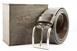 """Ремень ручной работы, коричневый, итальянская пряжка металик, тм """"Barracudas"""" Bs004"""