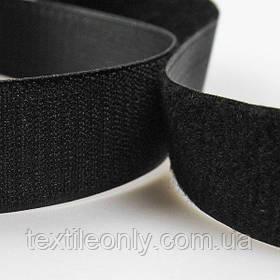 Липучка швейная черная 25 мм
