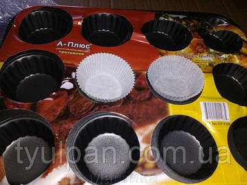 Форма металлическая для выпекания кексов гладкая