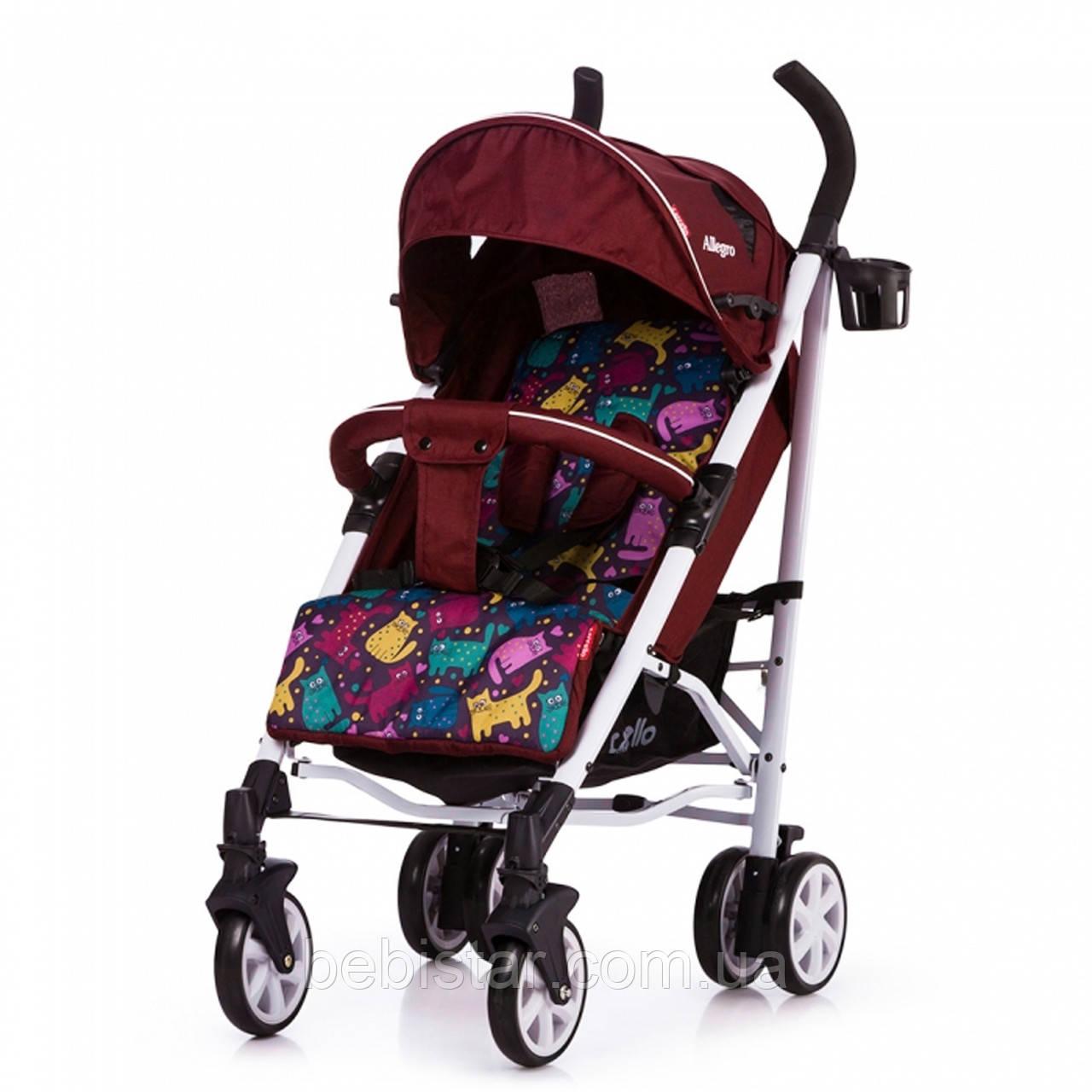 Детская коляска-трость CARRELLO Allegro CRL-10101/1 Kitty Red в льне