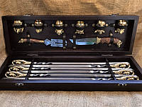Набор шампуров с рюмками,ножом и вилкой Люкс Nb Art Кабан 14 предметов 47330076