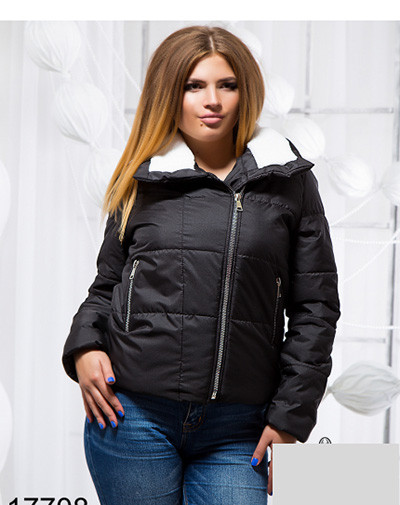 Демисезонная большого размера куртка-косуха 817708