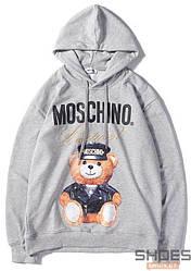 Худи Moschino Grey (ориг.бирка)