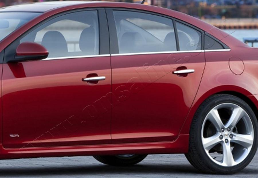 Chevrolet Cruze Sedan (2009-) Молдинги стекол нижние 6шт