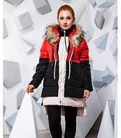 Удлиненная теплая куртка-парка большого размера 816616