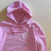 Мужское розовое худи Anti Social Social Club(реплика), фото 3