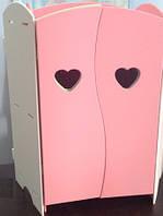 Детский шкаф для Бебика БЕЛО-РОЗОВЫЙ