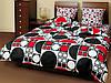 Постельное белье ТЕП двухспальное Круги черно-красные