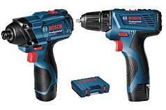 Набор аккумуляторных инструментов Bosch гайковерт GDR120-LI + шуруповёрт GSR 120-LI