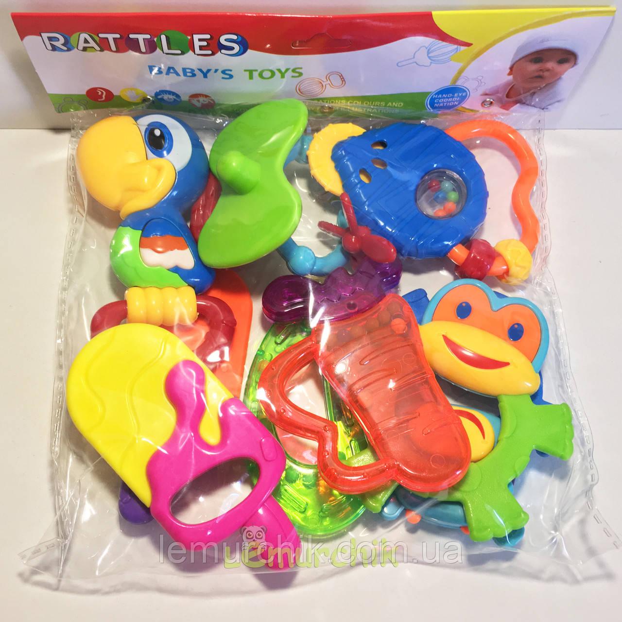Набор игрушек-погремушек 8 штук