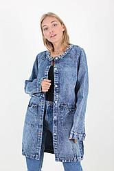 Женский джинсовый кардиган большого размера