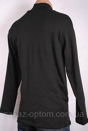 Гольф мужской стойка черный(46-56) на флисе 28662, фото 2