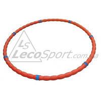 Обруч массажный Leco-IT 40 мм 800 г оранжевый