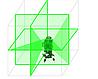 Лазерный нивелир с зеленым лучем 3х360 градусов, фото 2