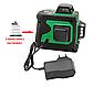 Лазерный нивелир с зеленым лучем 3х360 градусов, фото 3