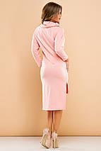 """Асимметричное трикотажное платье """"ALEX"""" с длинным рукавом (5 цветов), фото 2"""