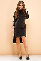 """Асимметричное трикотажное платье """"ALEX"""" с длинным рукавом (5 цветов), фото 3"""
