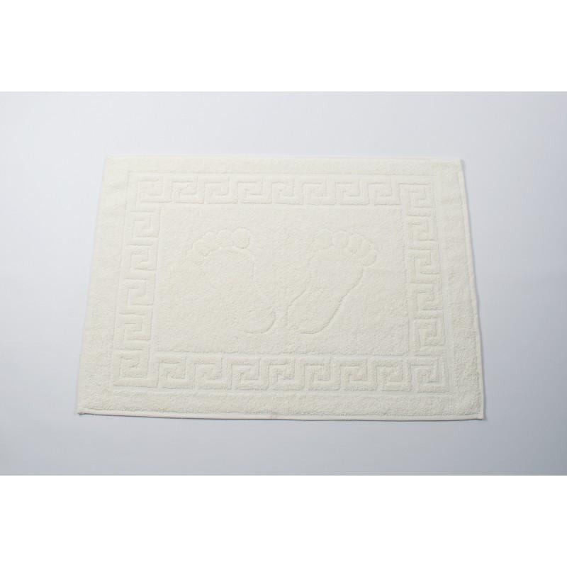 Полотенце для ног/коврик махровый отельный Lotus 50*70 (550 г/м2) кремовый оптом