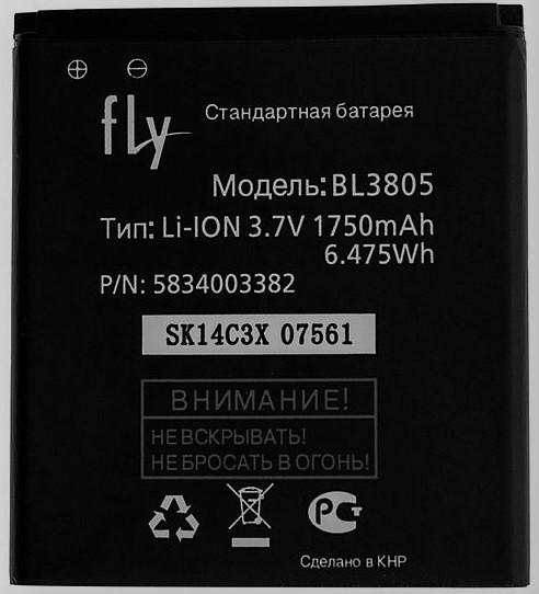 Аккумулятор батарея Fly BL3805 / IQ4404