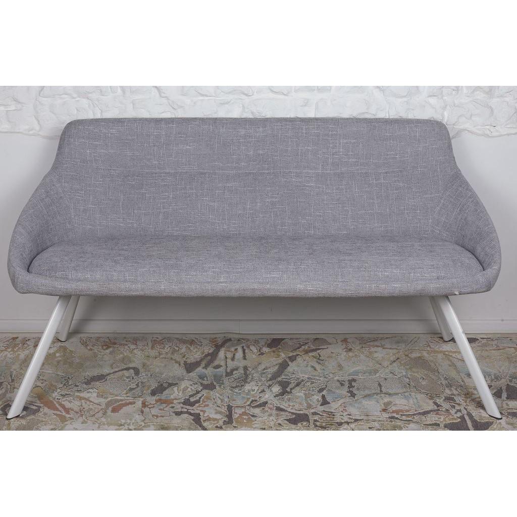 Toledo (Толедо) кресло-банкетка рогожка светло-серый