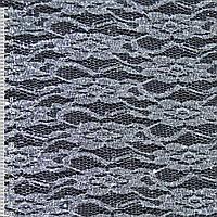 Гипюр белый с серебрист. штампом и блестками (жест.) ш.160