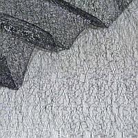 Гипюр-паутинка черный с серебр. люрексом ш.150