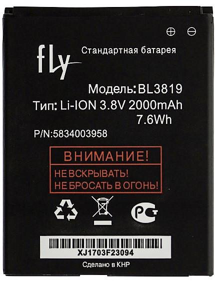 Аккумулятор батарея Fly BL3819 / 4514 Quad