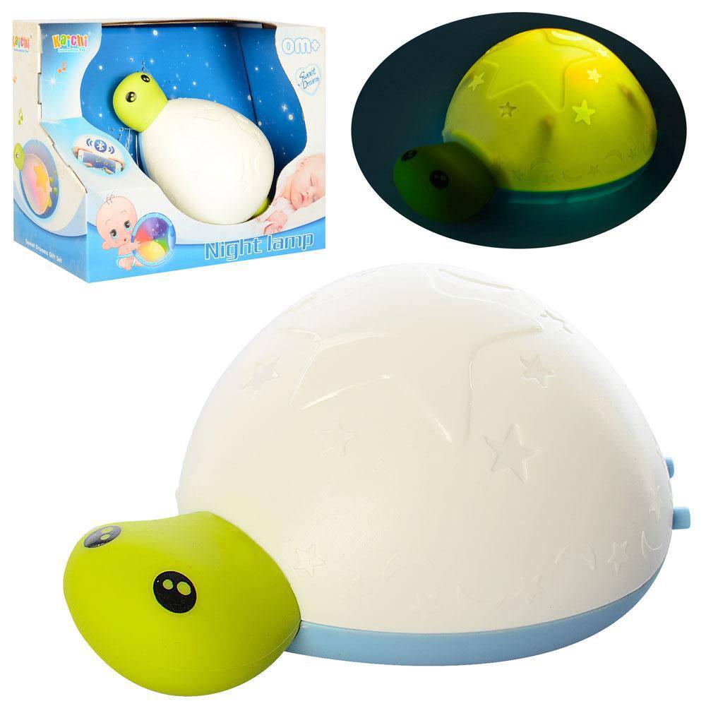 Детский музыкальный ночник-проектор 999-304B черепаха