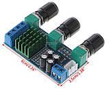 Усилитель звука D клас TPA3116D2 2*80 Вт стерео модуль с темброблоком DC 12-24v, фото 3