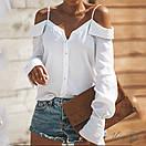 Блузки свободного кроя с открытыми плечами, фото 3