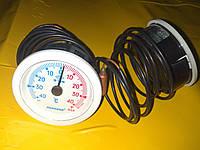 Термометр с капилляром -40℃ +40℃ град. / Ф -52 мм./1-метр PAKKENS