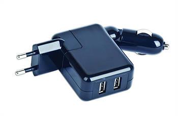 Автомобильное зарядное устройство Gembird MP3A-UC-ACCAR2 2А, универсальное, черный